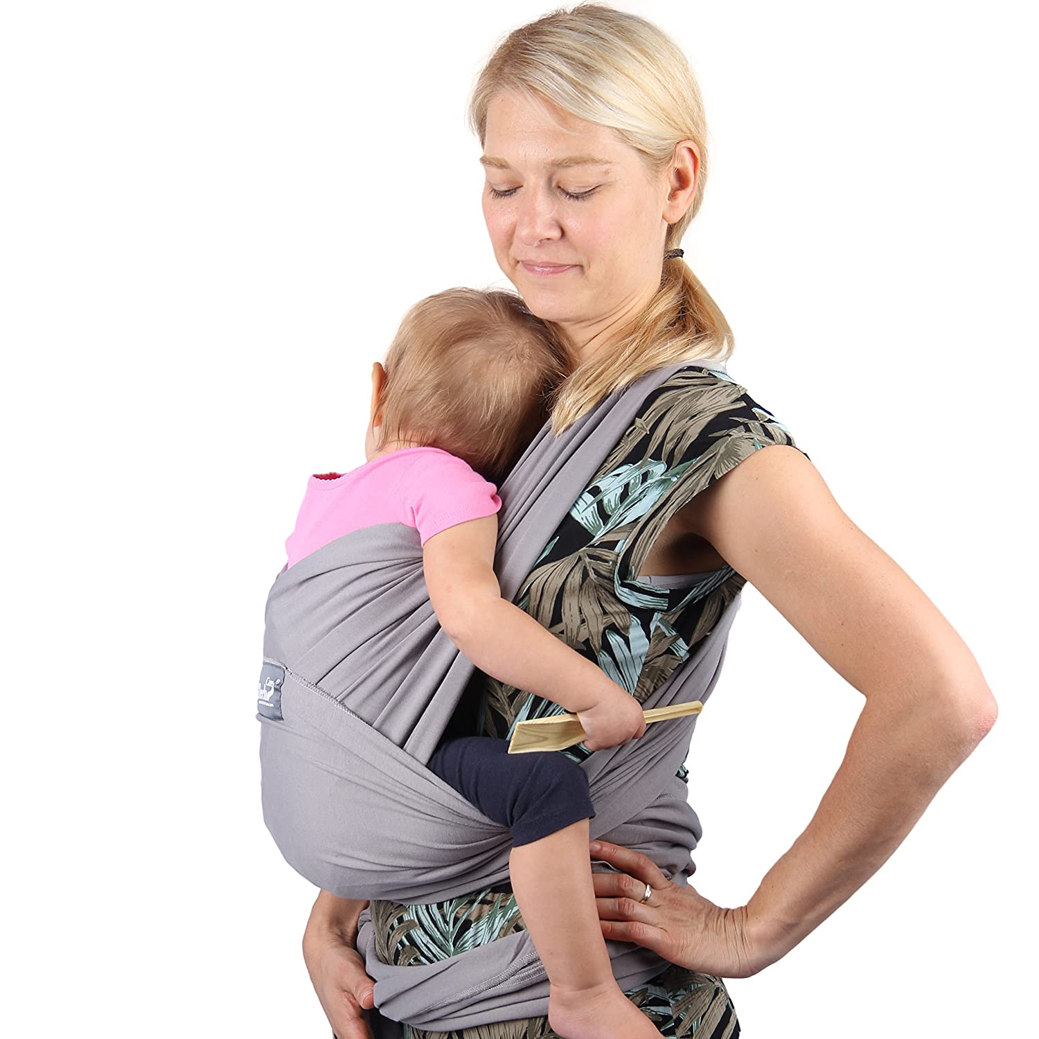 Toddler Child Cotton Neotech Care Baby Wrap Carrier Light Brown for Infant Newborn Breathable /& Adjustable