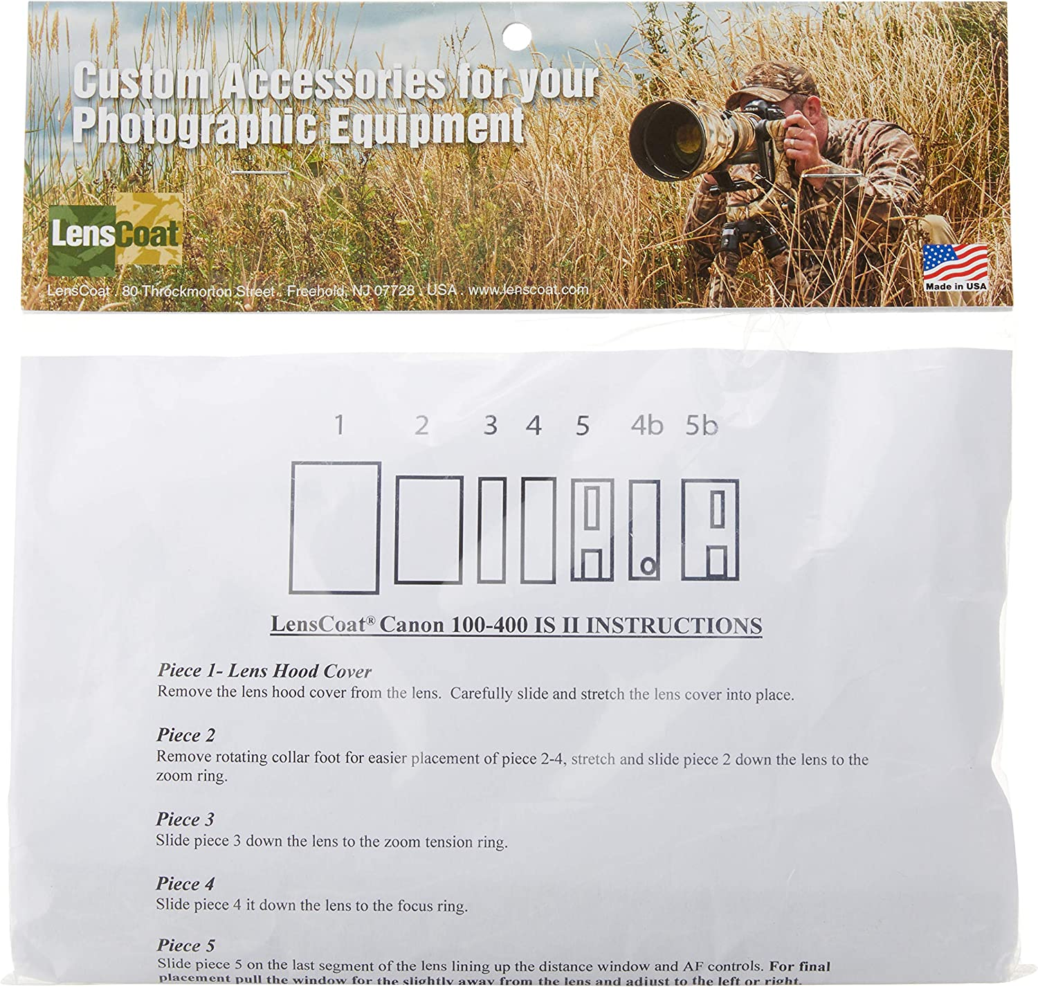 Lenscoat Lens Cover For Canon 100 400 Is Ii Camouflage Kamera