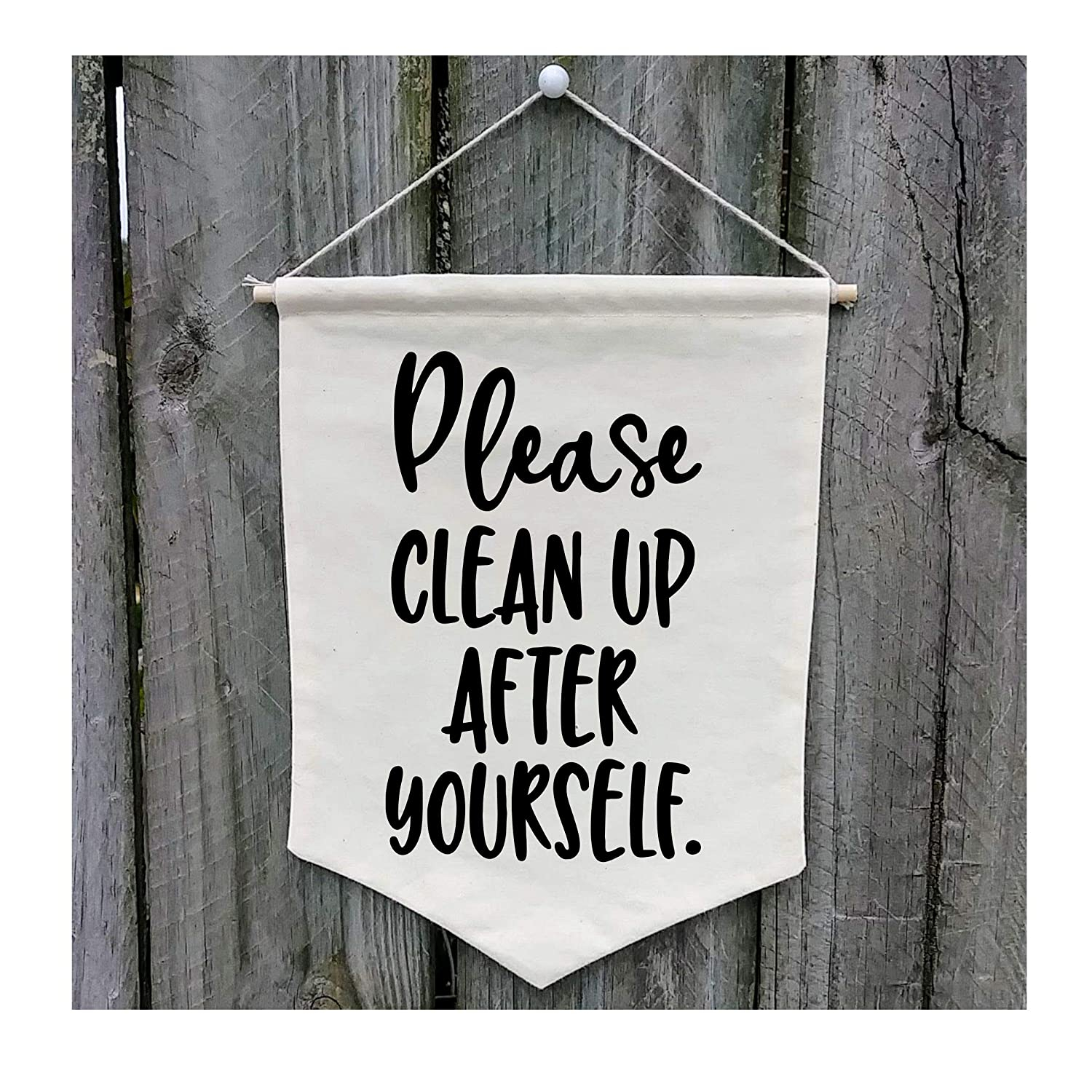 Please Clean Up After Yourself Wall Banner - Customize WB506