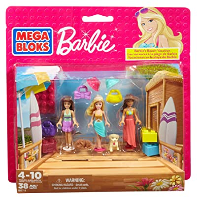 Mega Bloks Barbie Beach Vacation: Toys & Games
