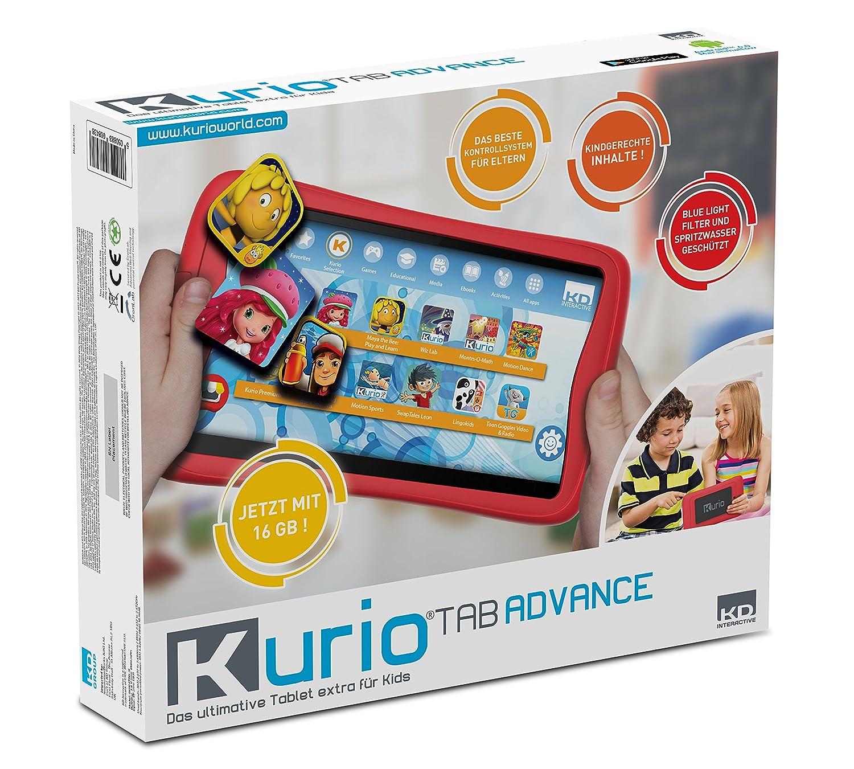 KURIO DECIIC17150 Kindertablet mit 7'' Multitouch Monitor, 2 Kameras, 16 GB Speicher, 1GB Ram, Android OS, kindgerechter Internetfilter und Bumper Schutzhülle, Kinder Tab, 7 Zoll, ca. 17,7 cm