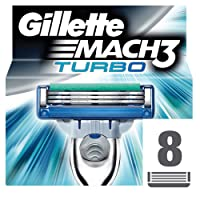 Gillette Mach3 Men's Razor Blades, Pack of 8 Mach 3 Turbo