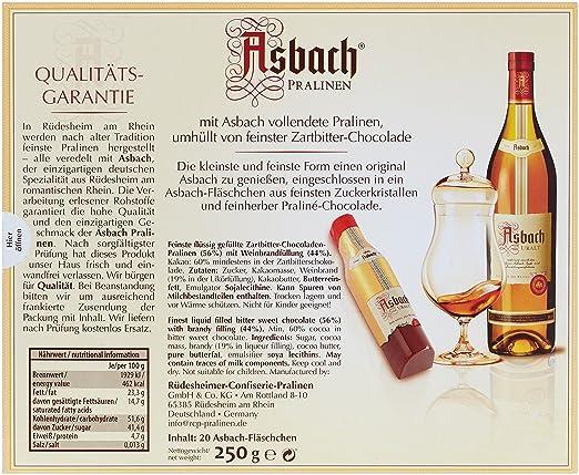Asbach-Pralinen Fläschchen-Packung 250 g, 1er Pack (1 x 250 g)