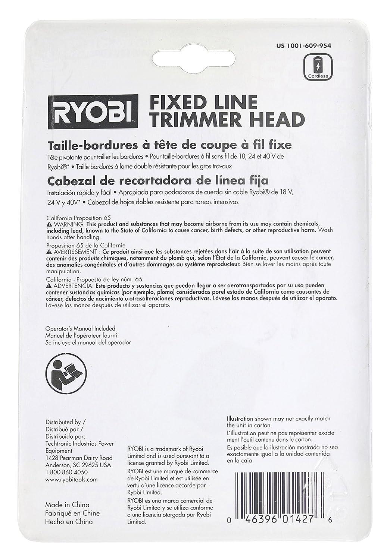 Ryobi ac14rfl 0.080 en. Sola Línea fija cadena cabeza para ...