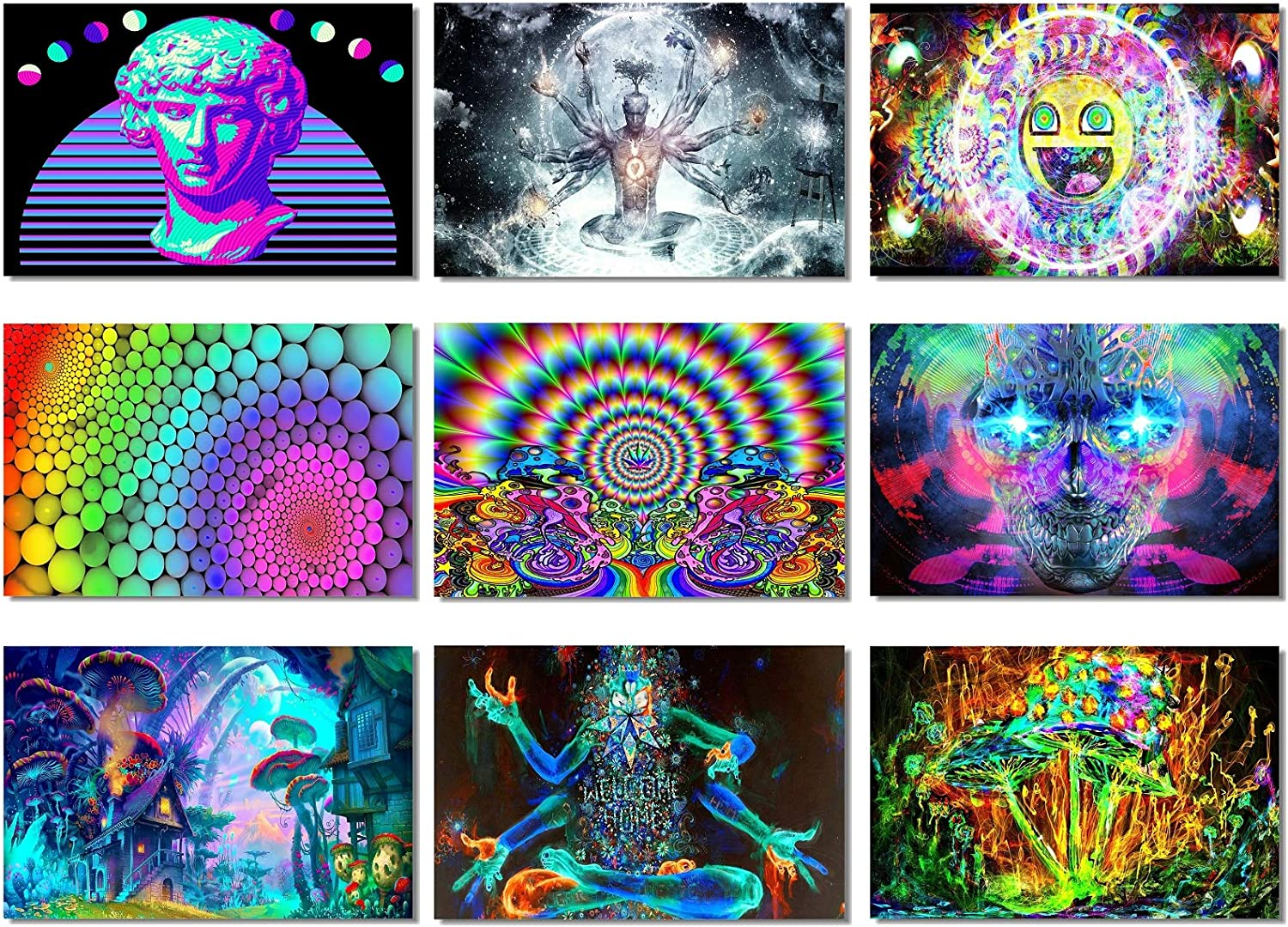 Poster Psychedelic Trippy Colorful Ttrippy Surreal Abstract Astral Art Print 38