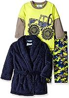 Baby Bunz Baby Boys' 3 Piece Trucks Robe and Pajama Set