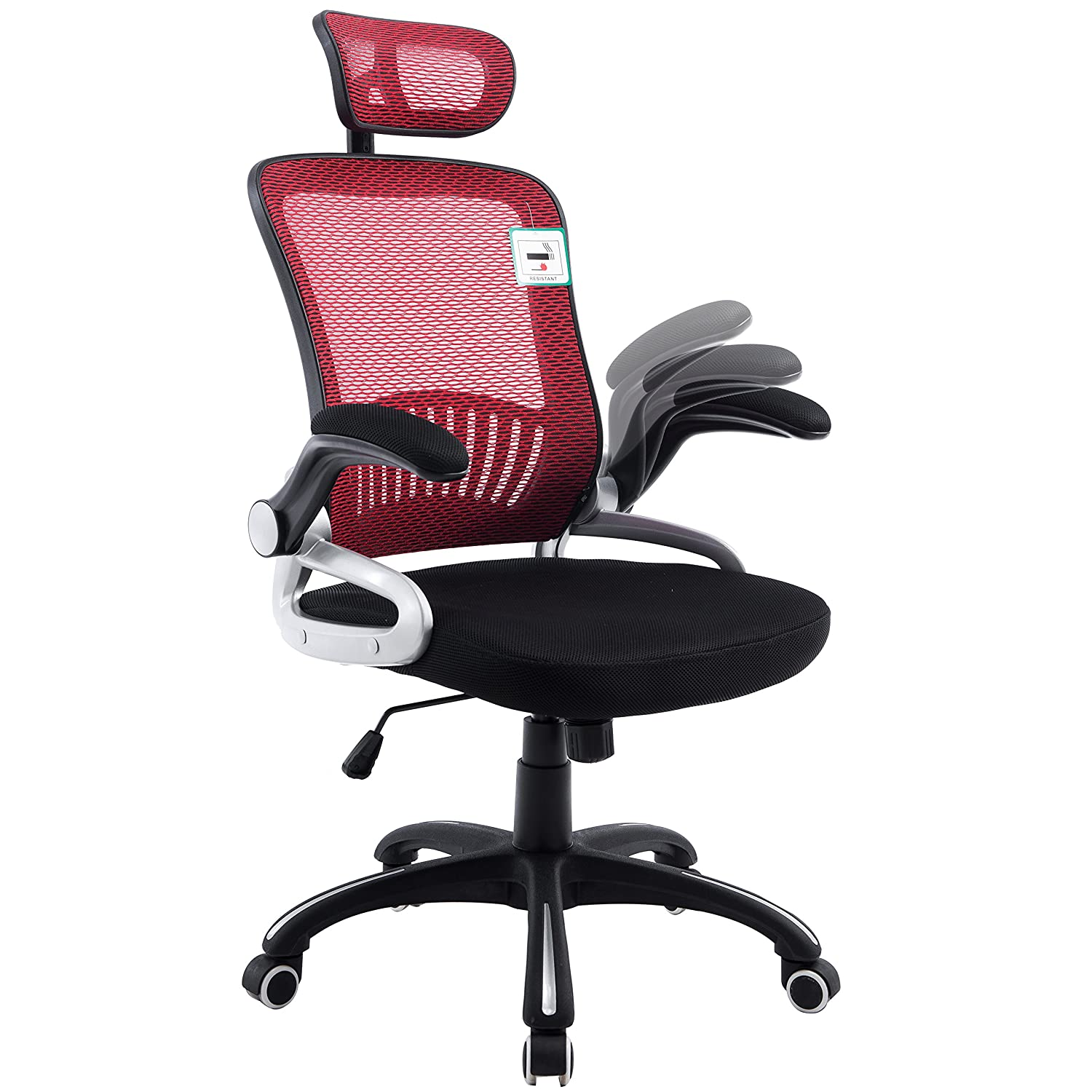 Mesh High Back Extra Padded Swivel fice Chair with Head Support