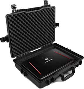 "Casematix 17"" Elite Custom Waterproof Laptop Case fits Acer Predator Helios 300, Helios 500, Nitro 5 and More Acer Gaming Laptop 15.6 inch, 17.3 inch Accessories"