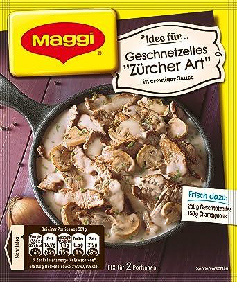 Maggi preparacion fresca para el estilo rodajas Zúrich / Maggi fix & frisch für Geschnetzeltes Züricher