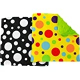 STS 598701 Baby Crinkle Square Sensory Toys - 6 Inch x 6 Inch, Assorted, 2 Pack