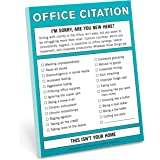 Knock Knock Office Citation Nifty Note, Checklist Memo Pad, 4 x 5.25-inches
