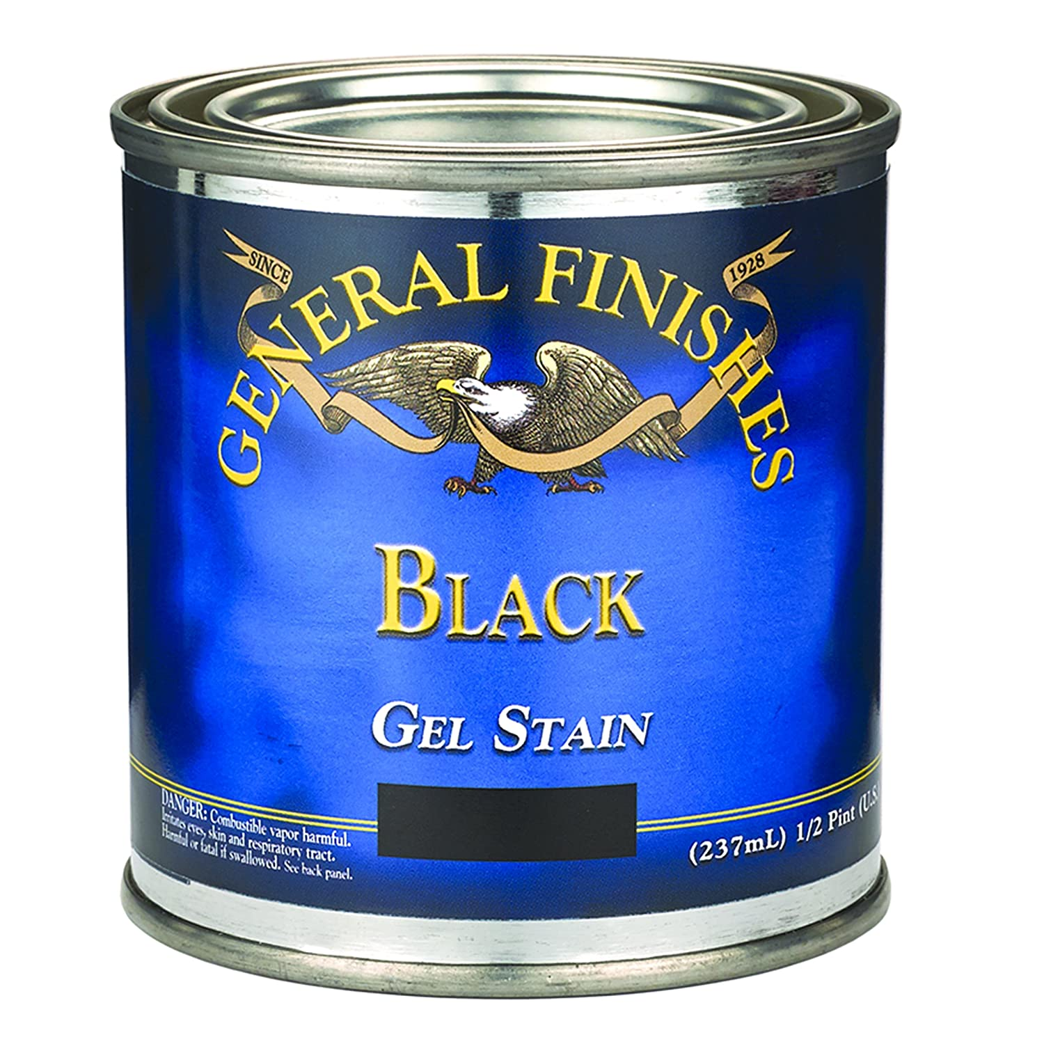 General Finishes BLH Gel Stain, half pint, Black