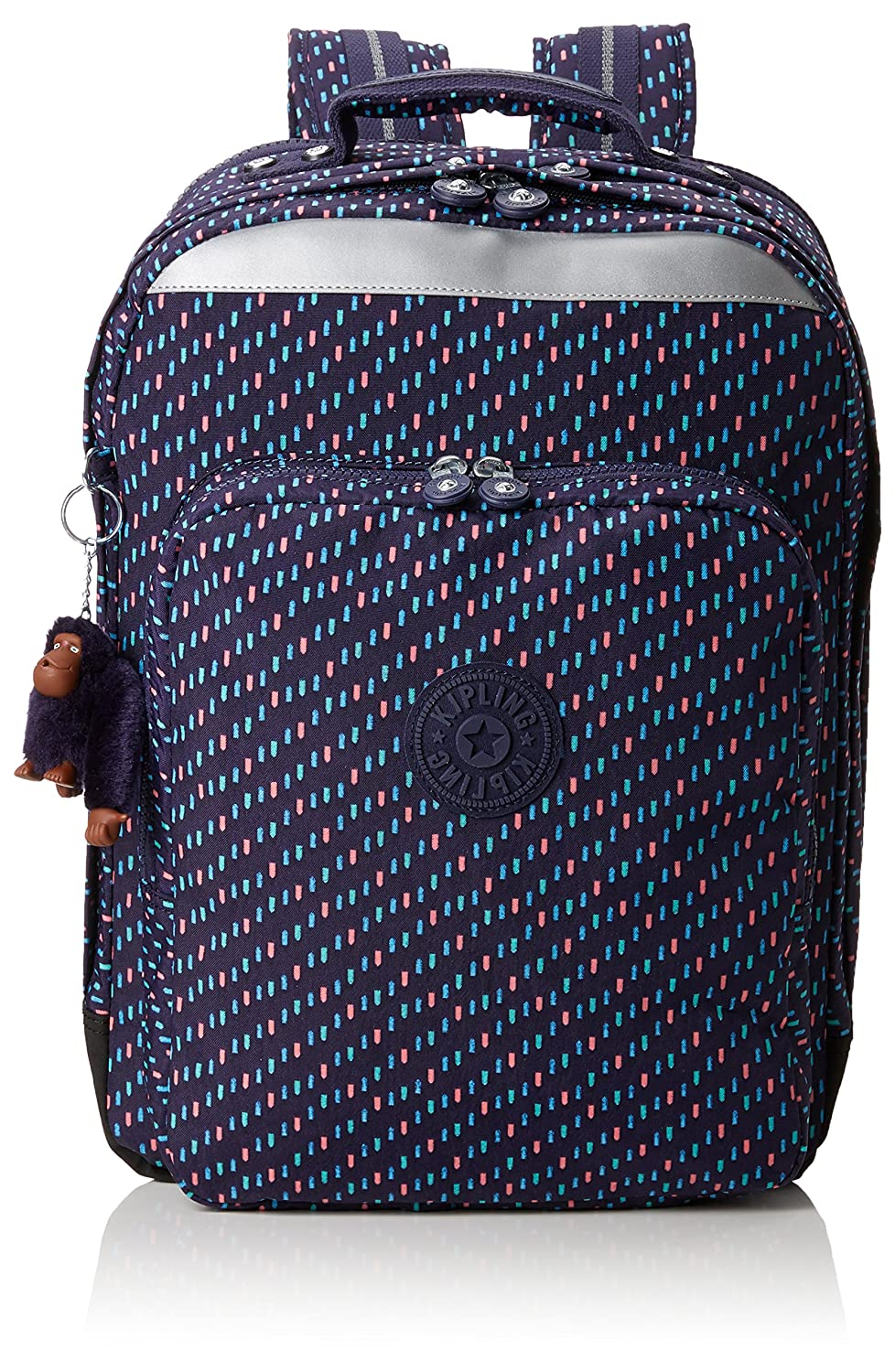 Kipling College Up Zaino, 42 cm, 32 liters, Blu (Blue Tan Block) K0666630G
