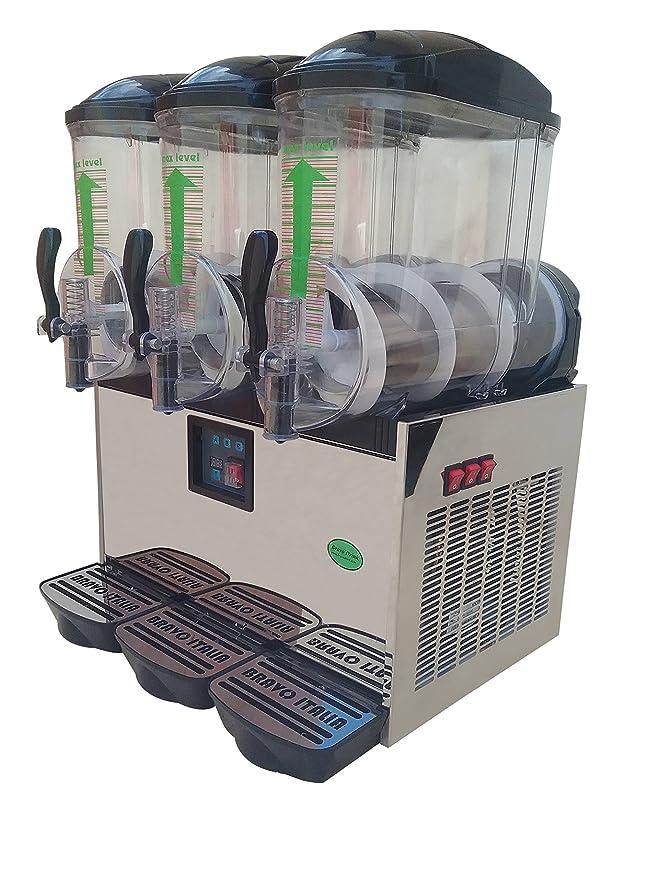 Bravo Italia 3 cuencos slushie máquina, Margarita eléctrica, slushie Maker, Margarita Machine, máquina de Frozen Bebidas Dispensador, granito, Slush máquina ...