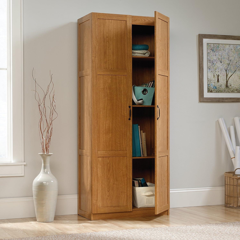 Amazon.com: Sauder Storage Cabinet, Highland Oak Finish: Kitchen U0026 Dining