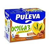 Puleva Leche Omega 3 con Nueces - Pack 6 x 1 L - Total: 6 L