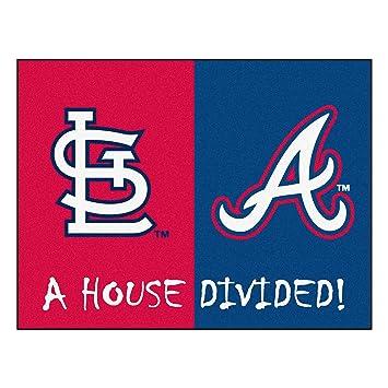 Mlb house divided cardinals braves rug 34 x 45 small