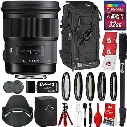 Sigma Arte 50 mm f/1.4 DG HSM Lente para Sony Montura a cámaras ...