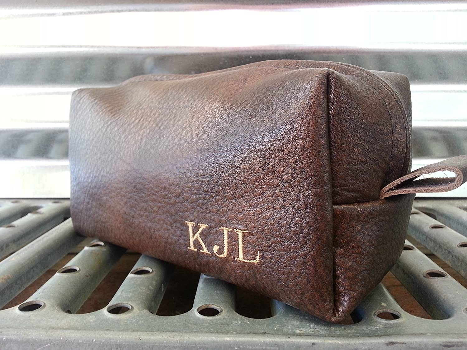Espresso Leather Toiletry Bag