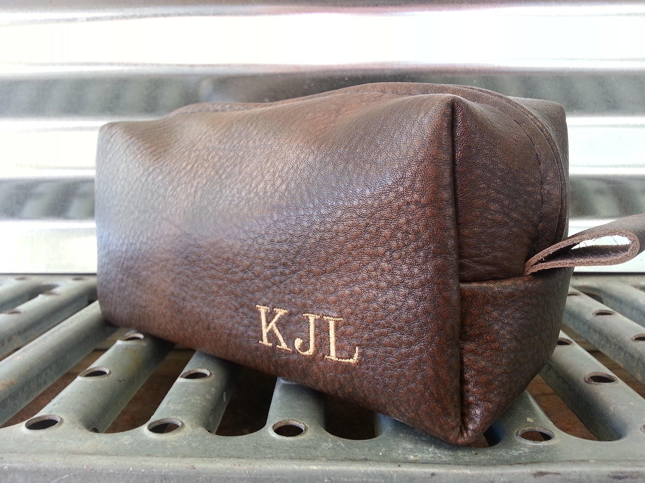 Espresso Leather Toiletry Bag
