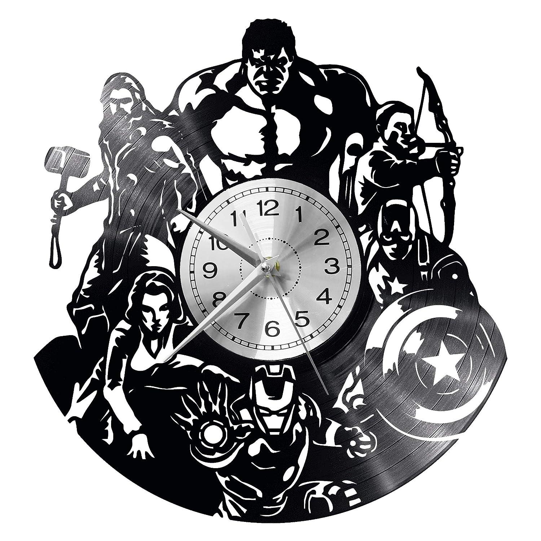 EVEVO - Reloj de Pared, diseño de Los Vengadores: Amazon.es ...