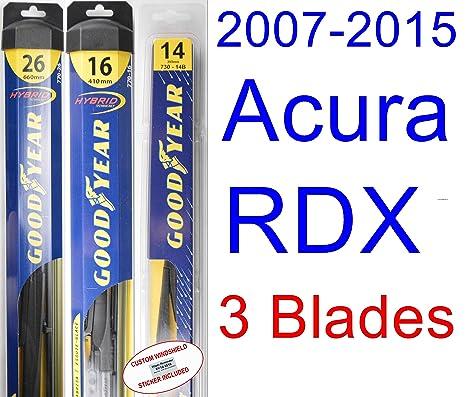 Amazon.com: 2007-2015 Acura RDX Replacement Wiper Blade Set/Kit (Set of 2 Blades) (Goodyear Wiper Blades-Hybrid) (2008,2009,2010,2011,2012,2013,2014): ...
