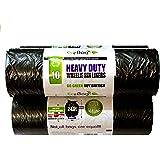 Super Strong 10 Heavy Duty Wheelie Bin Liners, 240 Litre Capacity Black Bag by Eco Bag