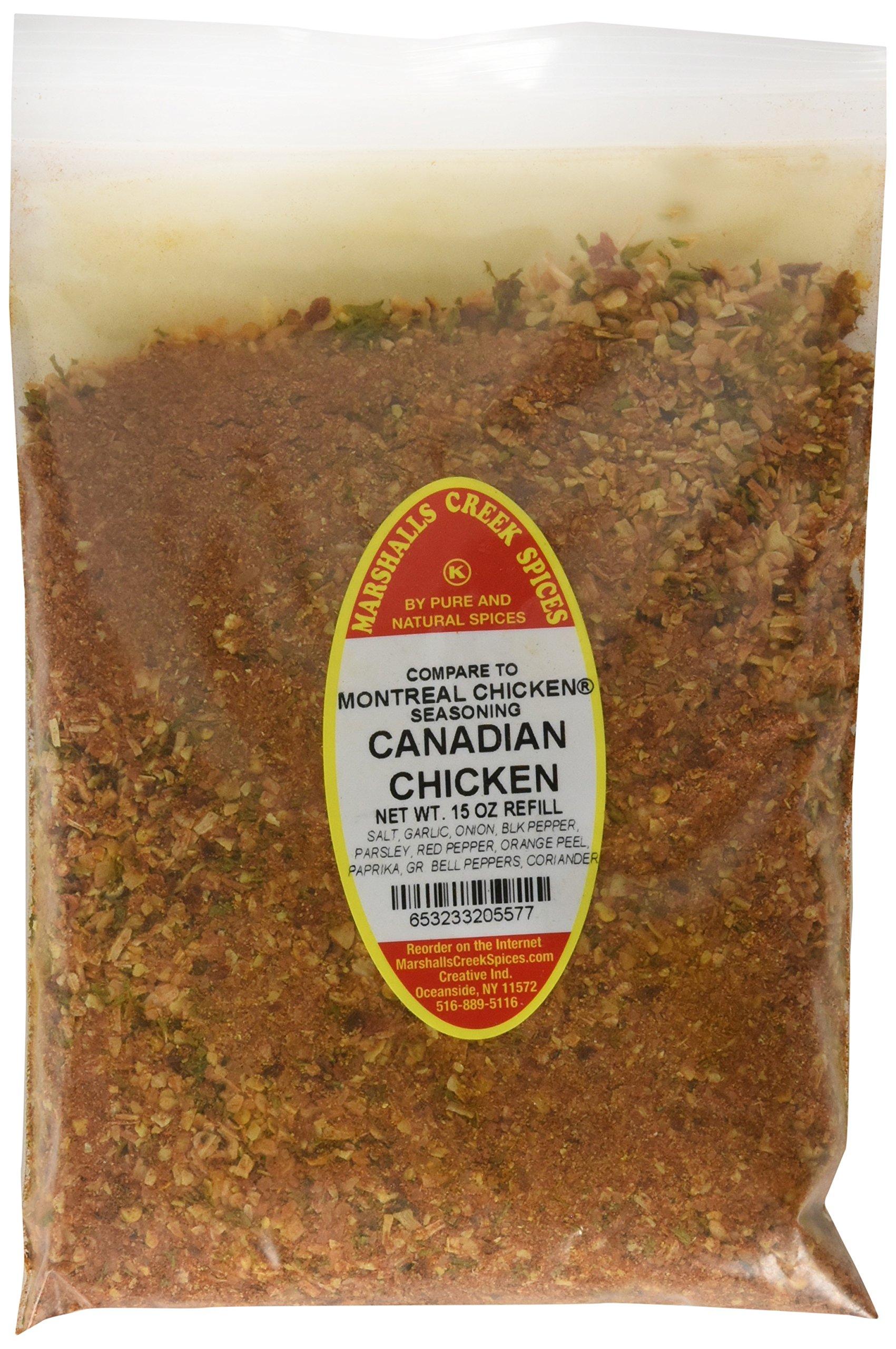 Marshalls Creek Spices Kosher Canadian Chicken Seasoning Refill, 15 Ounce