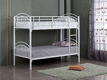 Etagenbett Mit Matratze : Alton etagenbett mit matratze verfügbarkeit metall weiß 3ft bed