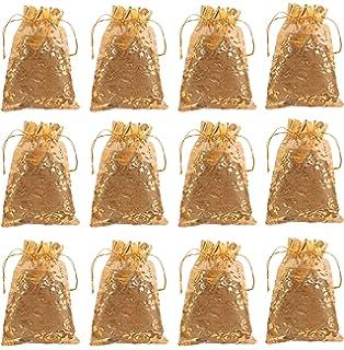 Amazon.com: Elesa Miracle 24pcs Silk Brocade Jewelry Pouch ...