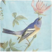 Wrapables - Servilletas de papel con diseño floral, 2 capas, 40 unidades, talla única, color azul