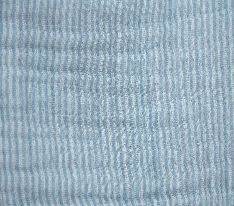 Organic 100/% Muslin Cotton Baby Blue Long Sleeve Footie 6-9