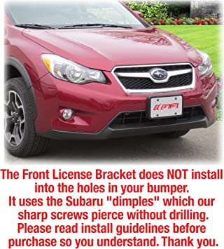 Trunknets Inc License Plate Bracket Adapter Kit for Subaru Factory Round Bumper Holes No Drilling Required 2.0 Version Bracket