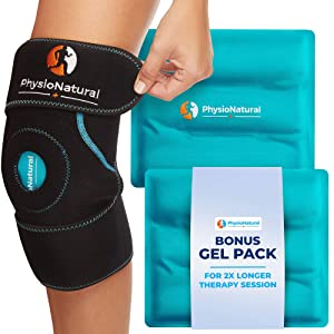 Knee Ice Pack Wrap - Hot & Cold Therapy with Adjustable Compression Support for Joint Pain, Injuries, Bursitis Pain Relief, Knee Surgery, Arthritis, Meniscus Tear, ACL, Sprains & Swelling