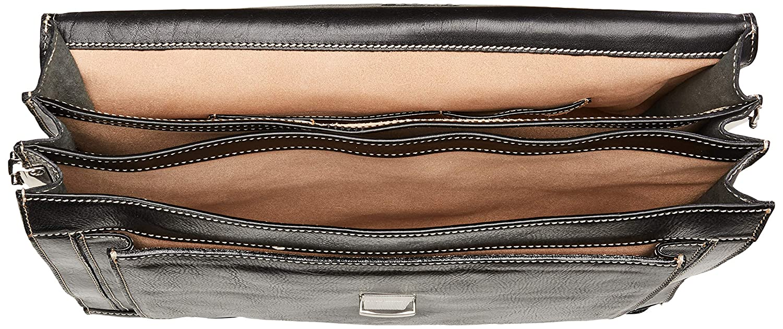 9ba5ae433 Amazon.com | Floto Luggage Venezia Briefcase, Black, One Size | Briefcases