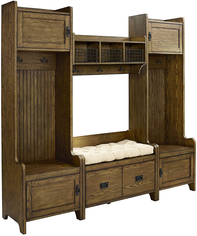 Amazing Crosley Furniture Fremont Entryway Kit With 2 Towers Shelf And Storage Bench Coffee Spiritservingveterans Wood Chair Design Ideas Spiritservingveteransorg