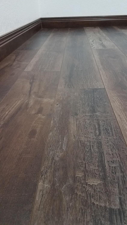 Reclaimed Barnwood-Look Floating Floor Sample, Split Rail Turtle Bay Floors Waterproof Click WPC Flooring Choose from 2 Colors//Grades Rich