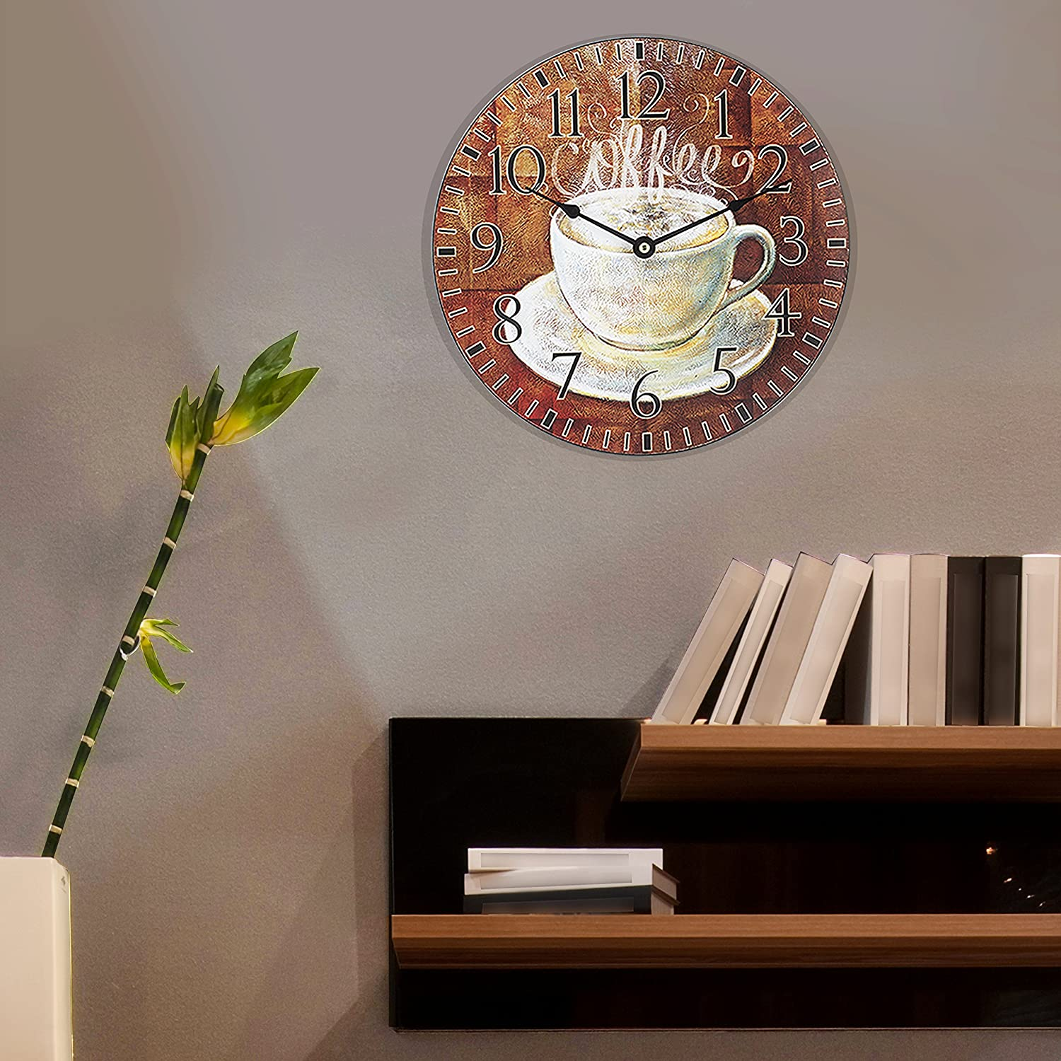 Coffee Decor for Coffee Lovers | Coffee Analog Wall Clock