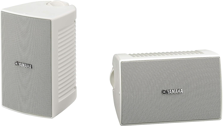Yamaha NS-AW194 - Altavoces de exterior (2 canales, resistente al agua, 8 ohms, 85 dB), color blanco