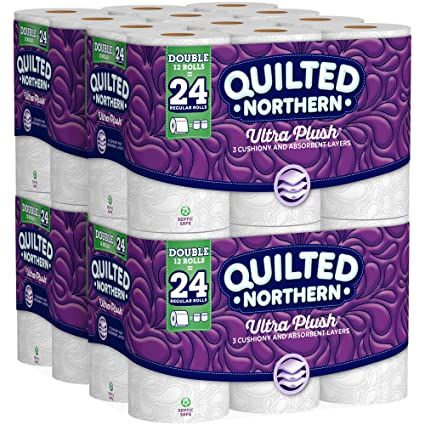 Quilted Northern Ultra Plush Toilet Paper Pack Of 48 Double Rolls Four 12