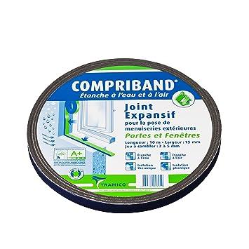 Joint Compriband 600 étanche à Leau Et à Lair De 2 à 5 Mm Pour