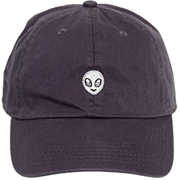 128bf66513b Newhattan Hats 100% Cotton Alien Emoji Adjustable Dad Hat - Sports Cap  (Charcoal)