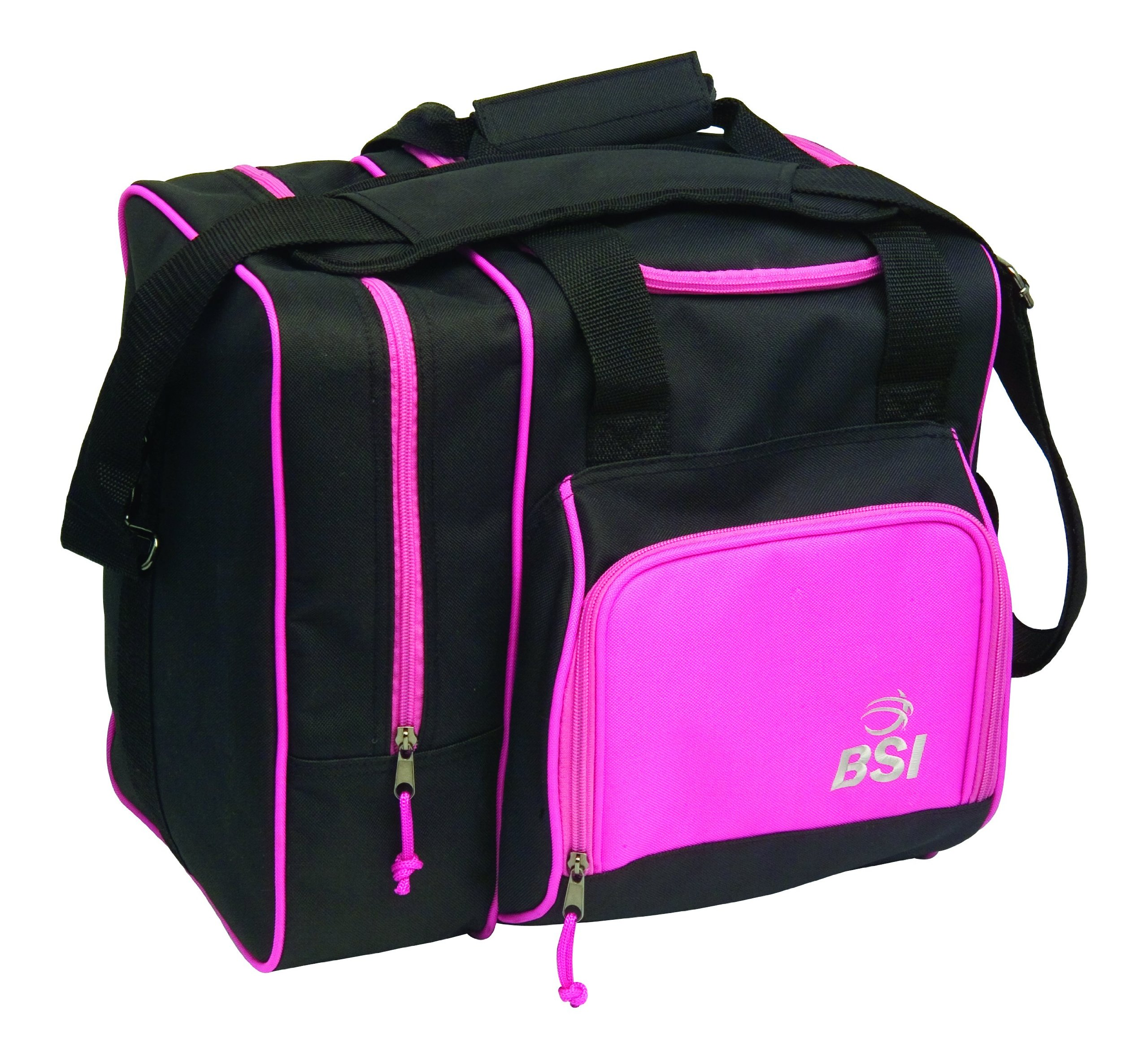 BSI Deluxe Single Ball Tote Bag (Black/Pink) by BSI