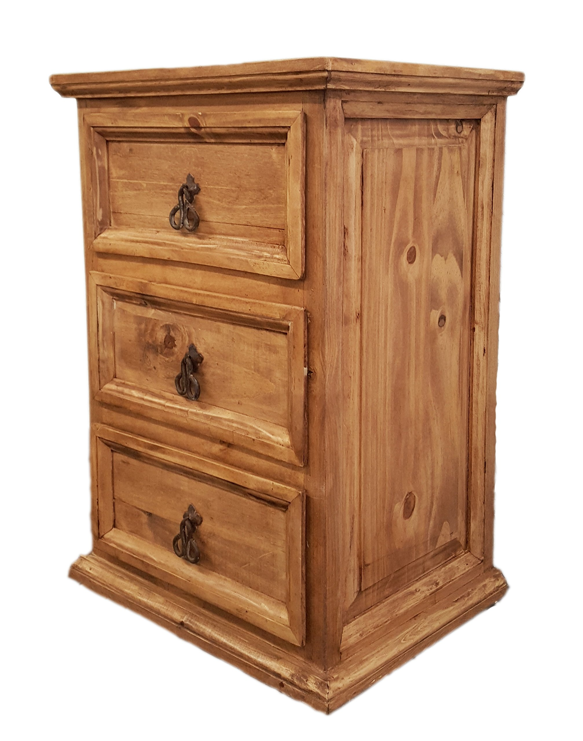 Rustics For Less LT-BUR-02 Santa Rita Nightstand, Short, Medium