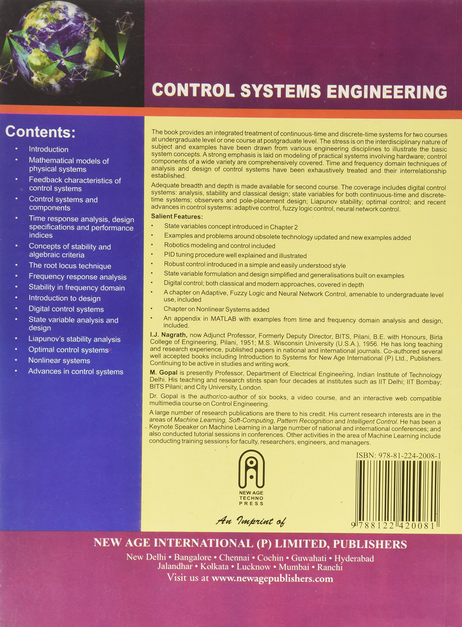Control System Engineering Book Nagrath Gopal