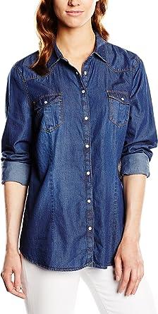 Springfield 3.BS.T+T+T.De603.Camisa B Blusa Vaquera, Blues ...