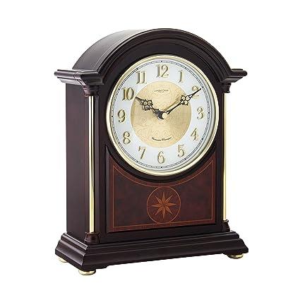 Bois Fonce Westminster Horloge De Cheminee Avec Carillon