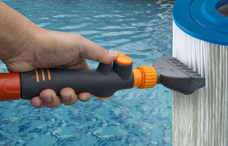 PREMIUM limpiador de cartucho de filtro de piscina & Spa by aquatix Pro, elimina residuos y la suciedad de piscina filtros en segundos, Heave resistente y ...