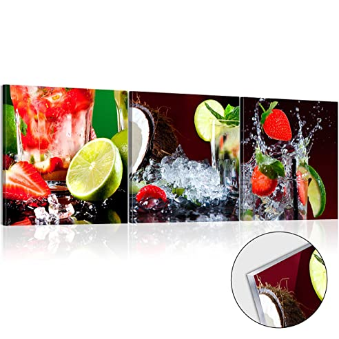 Murando - Acrylglasbild Limone 120X40 Cm - Glasbilder - Wandbilder