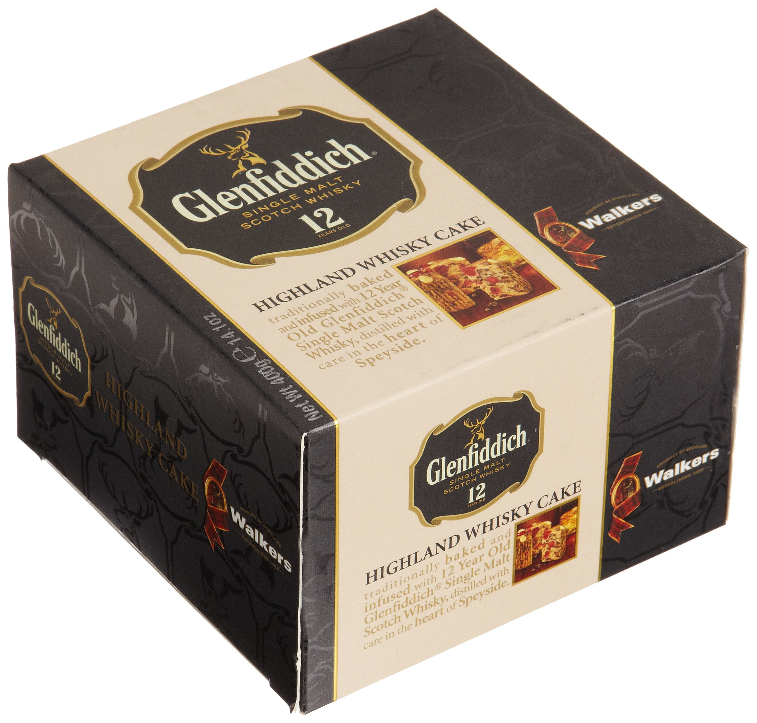 Walkers Shortbread Glenfiddich Highland Whisky Cake, 14.1 Ounce Box Traditional Scottish Fruit Cake with Glenfiddich Malt Whisky, Cherries, Sultanas by Walkers Shortbread (Image #2)